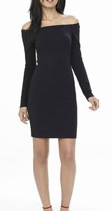 Express cold shoulder bodycon mini dress